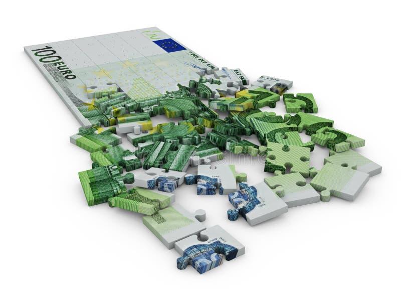 Euro- enigma ilustração stock