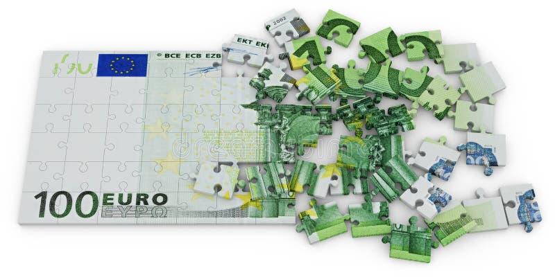 Euro- enigma ilustração royalty free