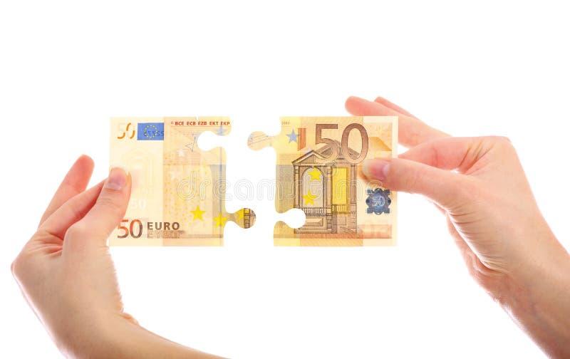 Euro- enigma de serra de vaivém imagem de stock royalty free