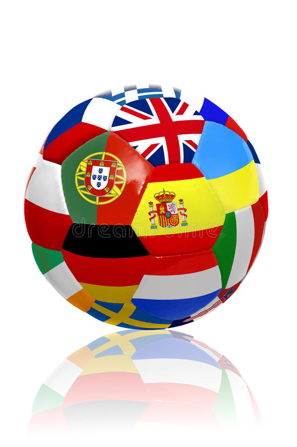 Euro- esfera do copo foto de stock