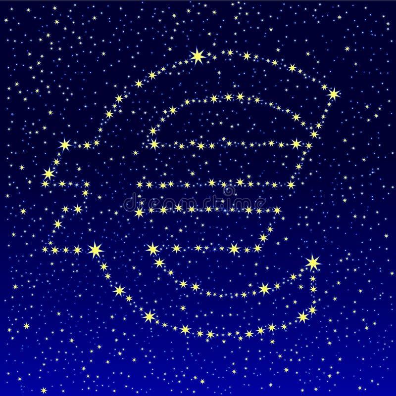 Euro estrelado do céu ilustração royalty free
