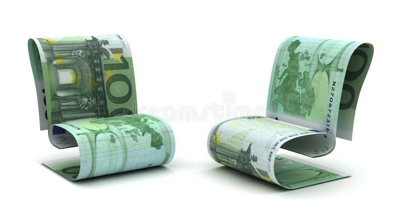 Euro europeo de manejo stock de ilustración