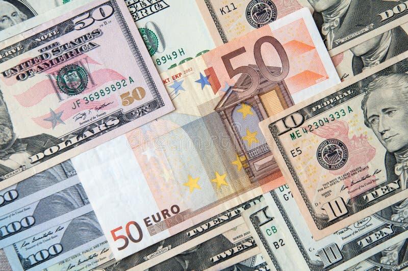 Euroför and50för denominationsför differentför BanknotesofÂdollarsAbstractÂbakgrundför Businessroyaltyfria foton