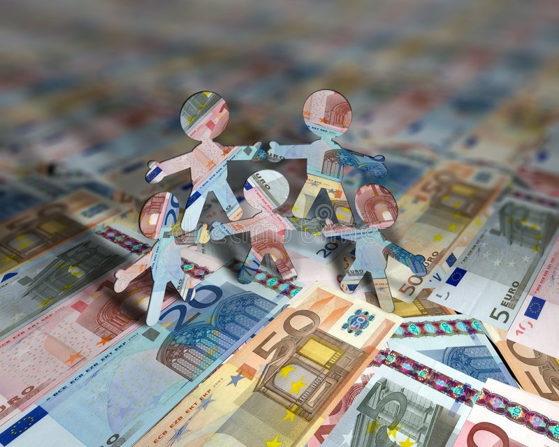 euro för 2 akrobater arkivfoto