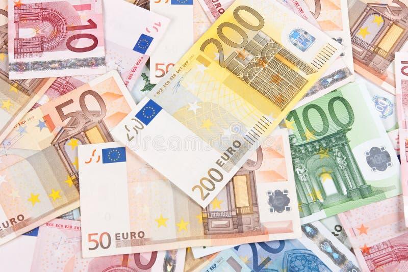 euro för 2 bakgrundssedlar arkivfoto