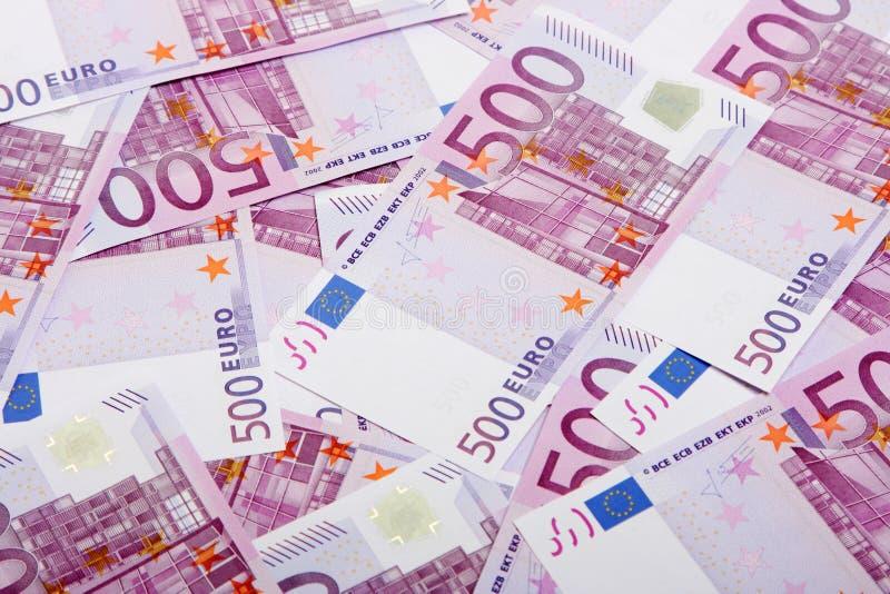 euro för 500 sedlar arkivfoton
