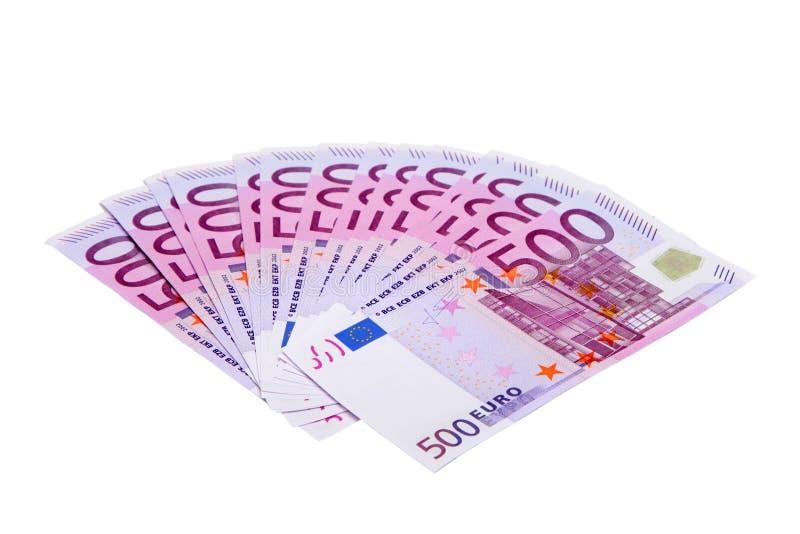 euro för 500 sedlar arkivfoto