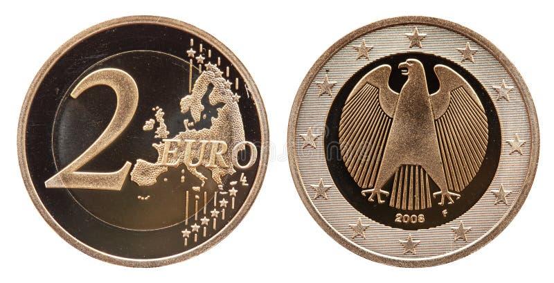Euro 2008 f?r Tysklandmynt 2 royaltyfria bilder