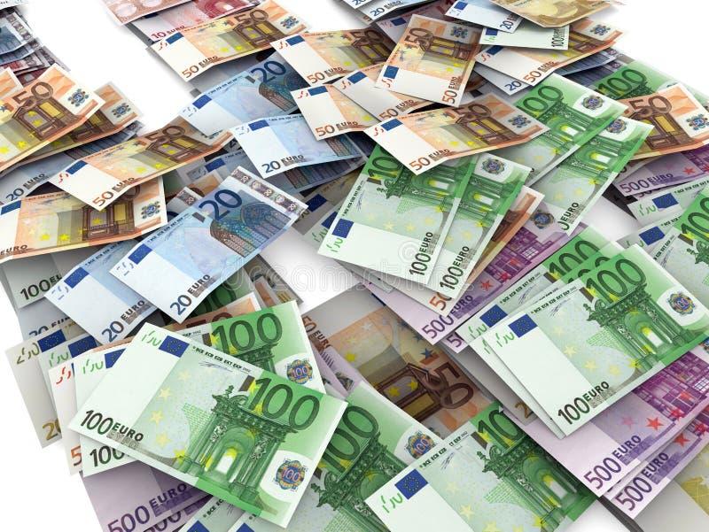 Euro factures illustration de vecteur