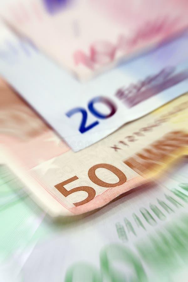 Euro factures photographie stock libre de droits