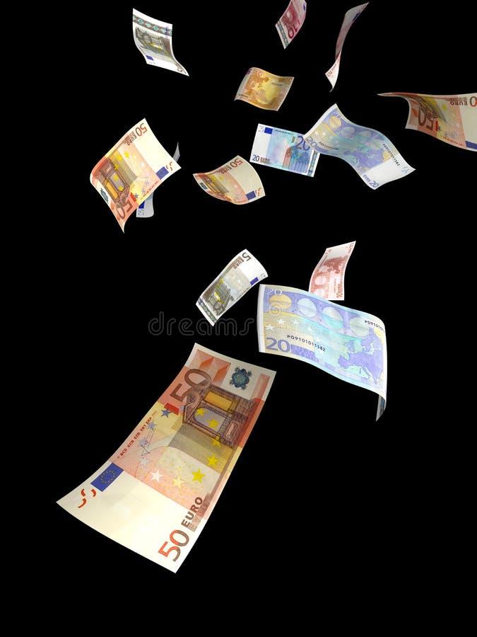 Euro factures en baisse images stock
