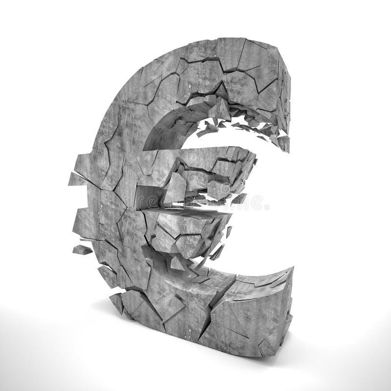 Euro fail vector illustration