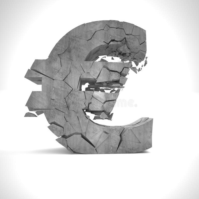 Euro fail stock illustration
