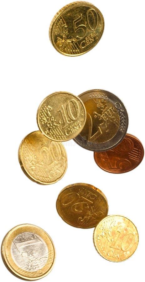 Euro falling stock image