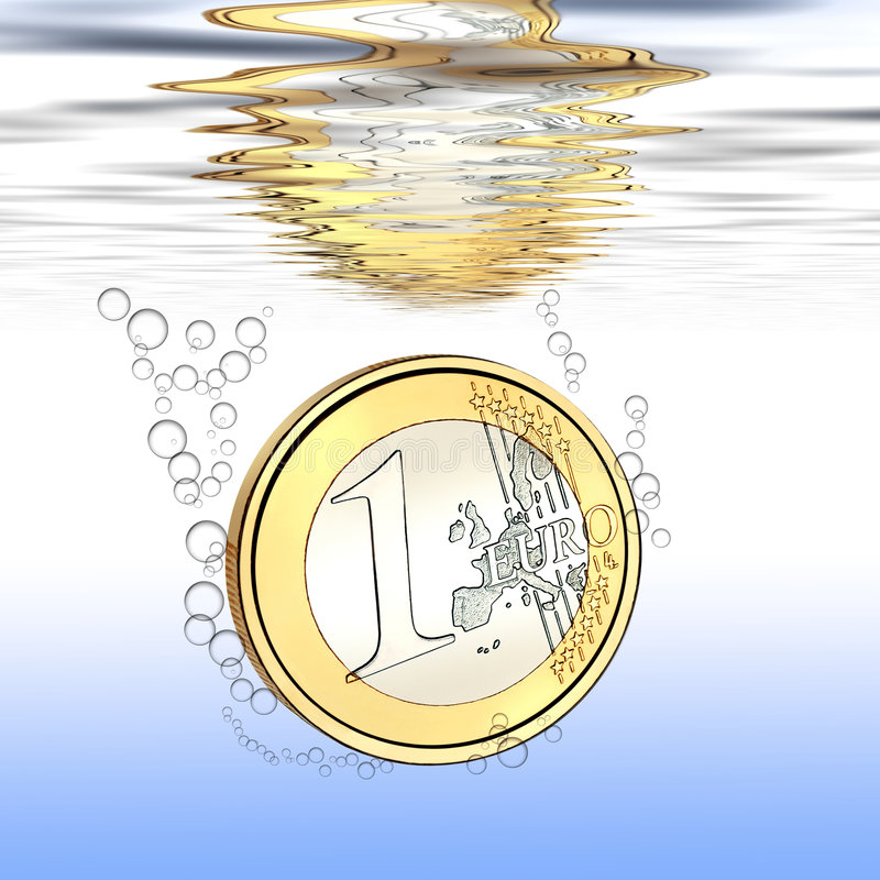 Download Euro falls stock image. Image of devaluation, reflection - 7718767