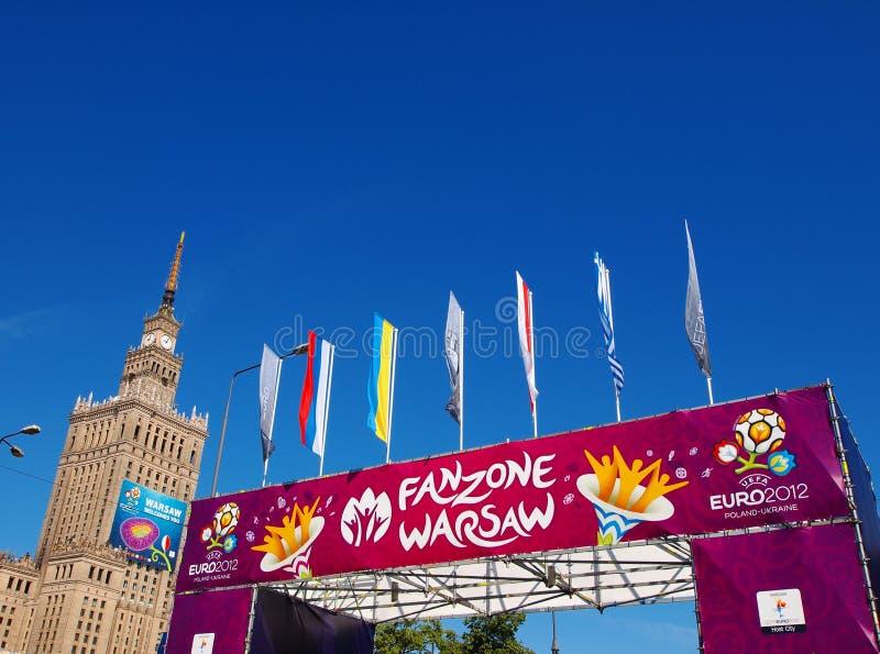 Euro Fanzone 2012 em Varsóvia, Poland fotos de stock royalty free