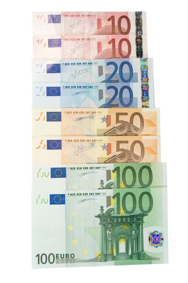 Euro fatture fotografia stock