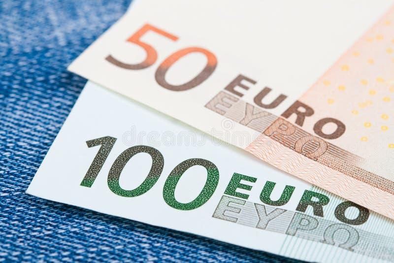 Euro fatture fotografia stock libera da diritti