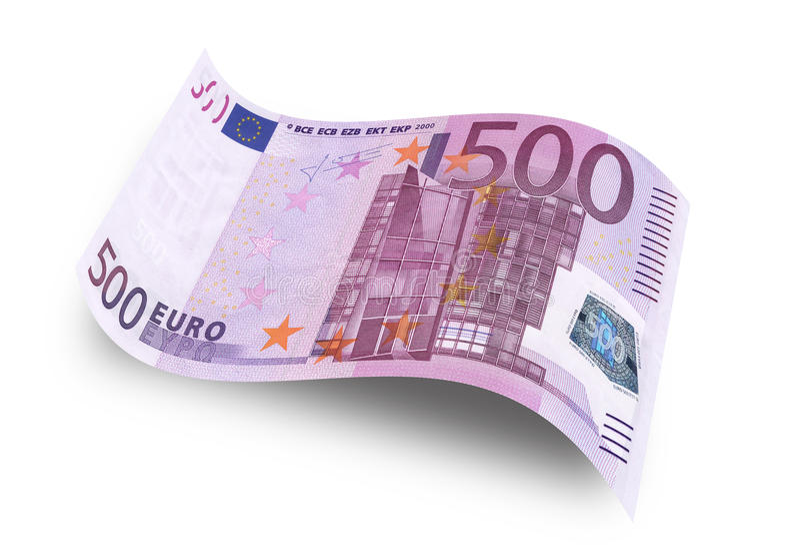 Euro femhundra royaltyfri fotografi