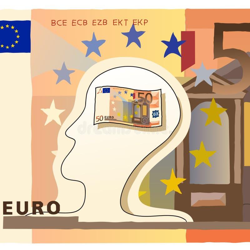 Euro femtio stock illustrationer