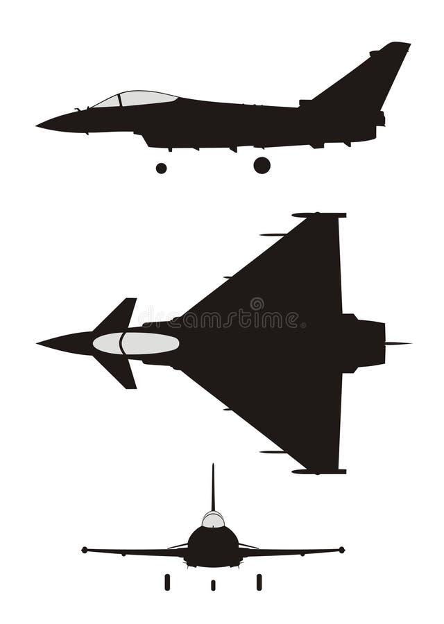 Download Euro Fighter stock illustration. Image of ef2000, pilot - 4571350