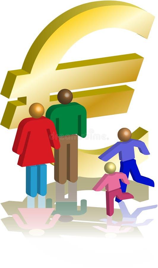 Euro figures illustration libre de droits