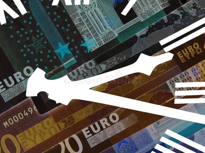 Euro- fim do prazo ilustração royalty free