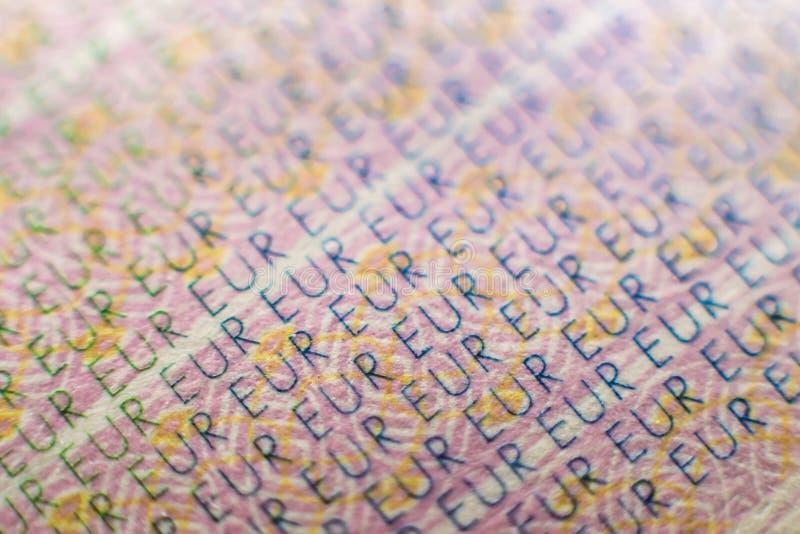 Euro fin de texture de passeport vers le haut de macro image libre de droits