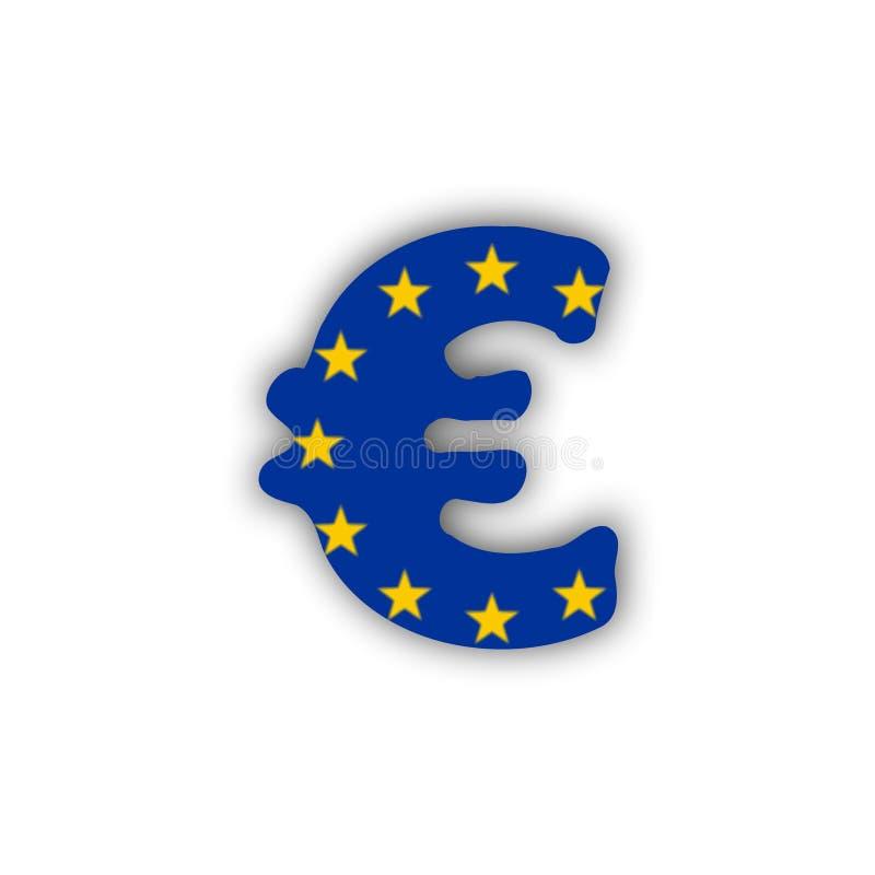 Euro and flag stock photo