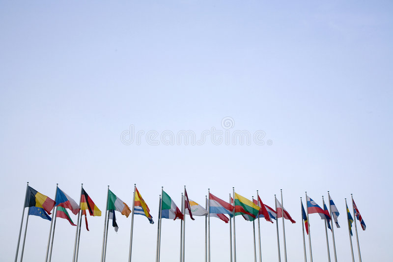 Euro Flags stock images