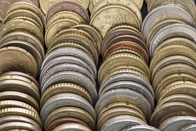 Euro fond de pièce de monnaie photographie stock libre de droits
