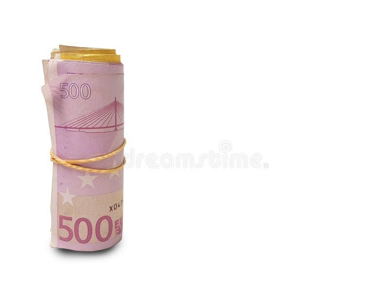 Euro fondo 500 dei soldi 200 100 10 20 fotografia stock libera da diritti