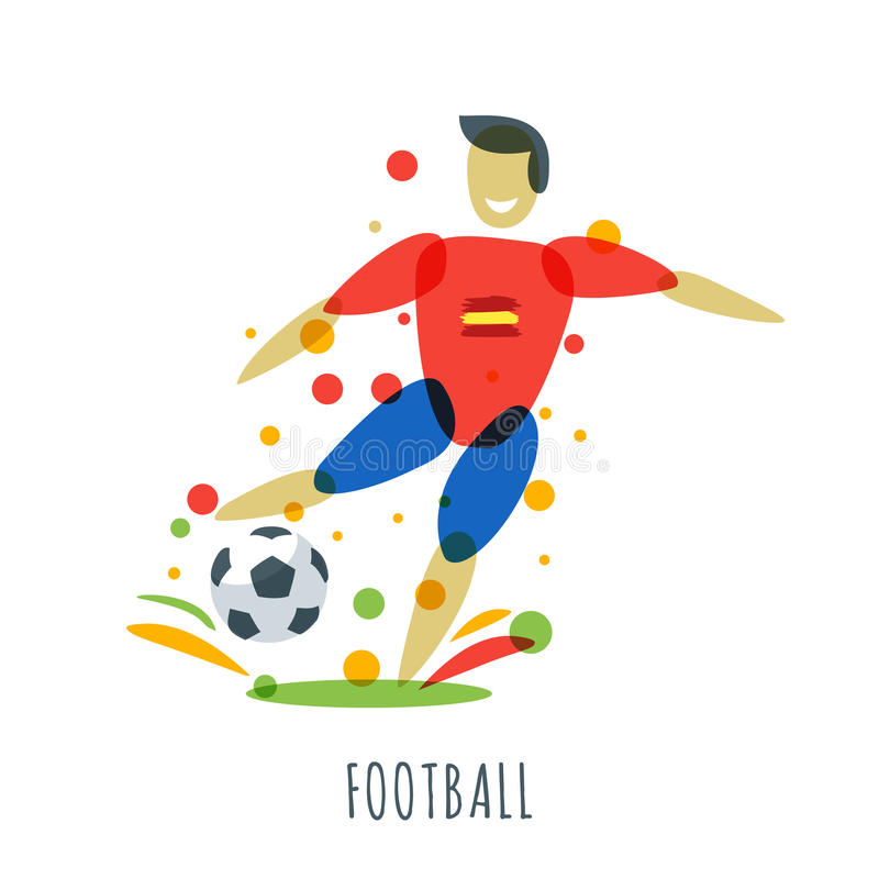 ball in spanish. spanish player with ball. ball in