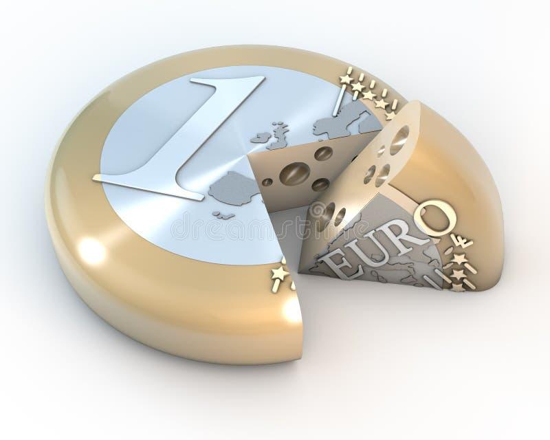Euro formaggio illustrazione di stock
