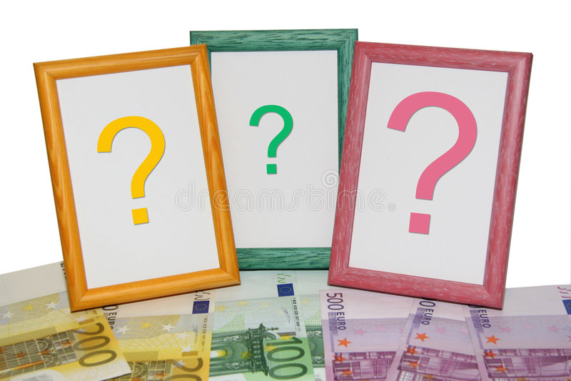 Euro- frames fotografia de stock royalty free