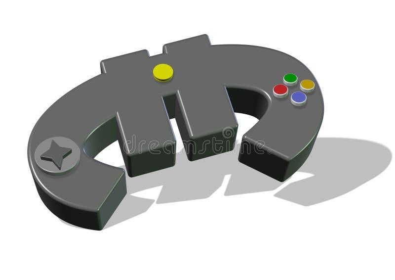 Euro Gamepad royalty ilustracja
