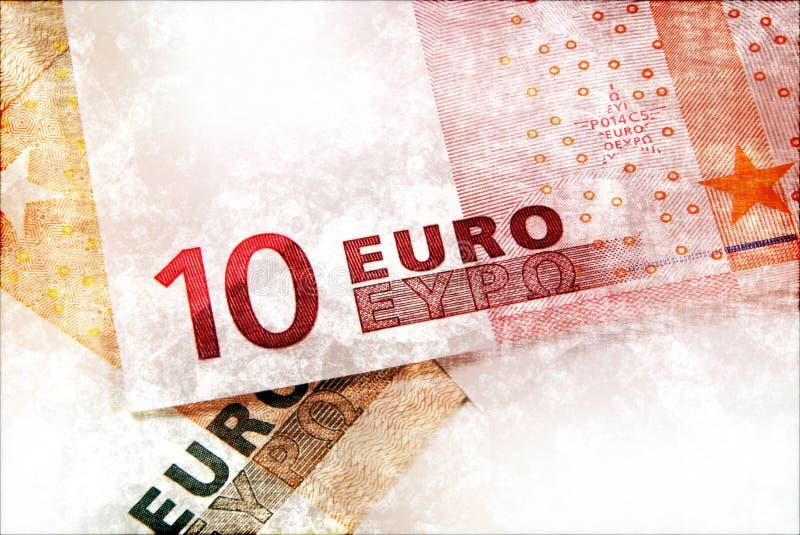 Euro geld grunge achtergrond stock afbeelding