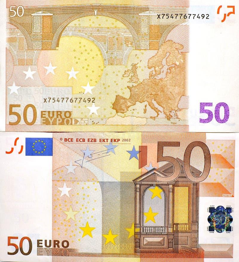 50 euro geldbankbiljet twee kanten stock foto afbeelding for Sessel 50 euro