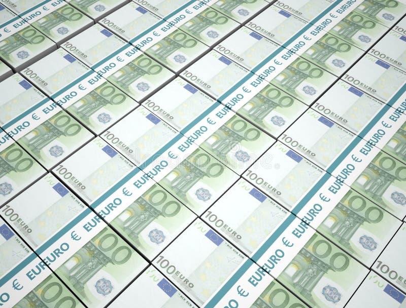 100-Euro-Geldhintergrund vektor abbildung