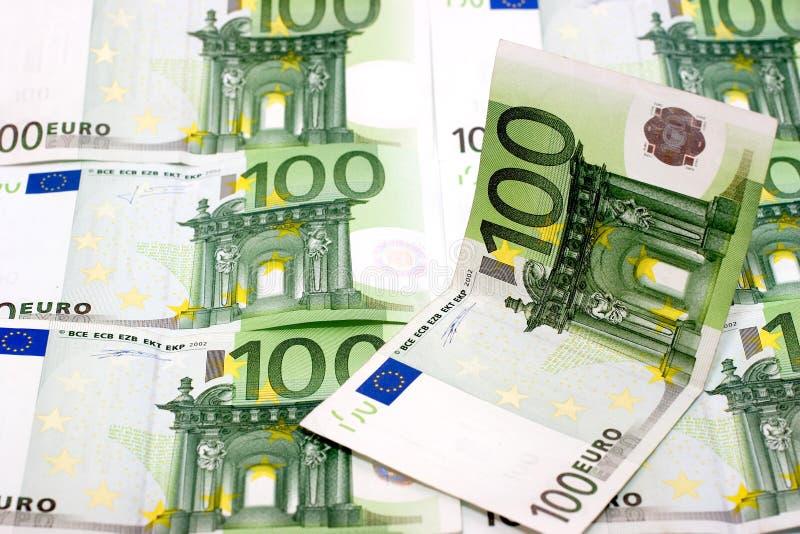 Euro geldrekeningen royalty-vrije stock afbeeldingen