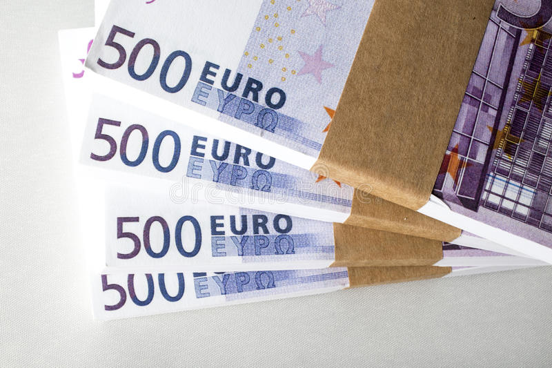 Euro geldwinst royalty-vrije stock fotografie