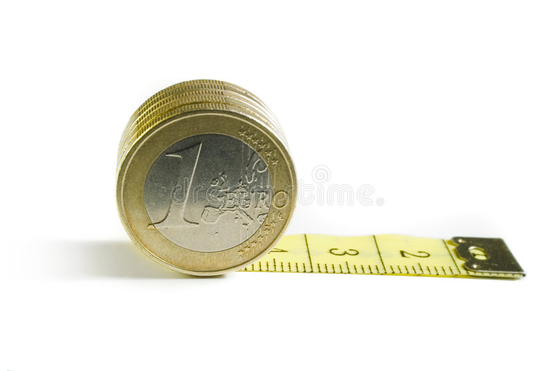 Euro gescheiden waarde stock foto