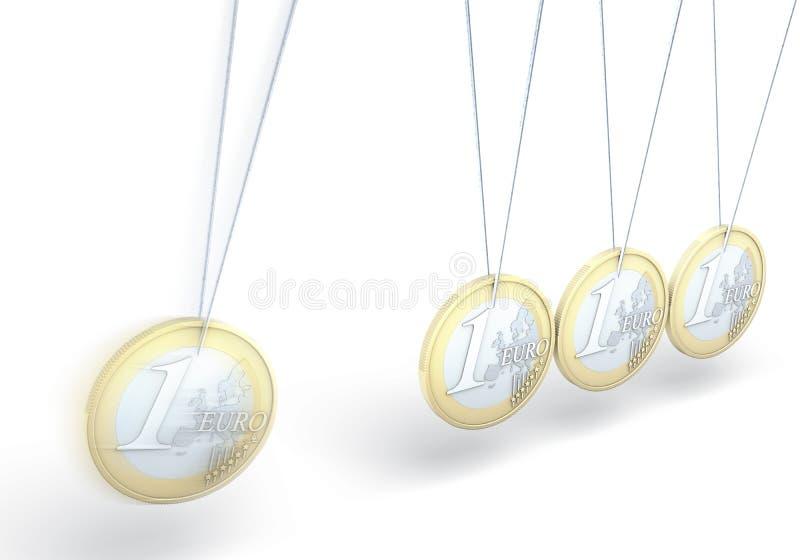 Euro giocattolo cinetico della moneta royalty illustrazione gratis