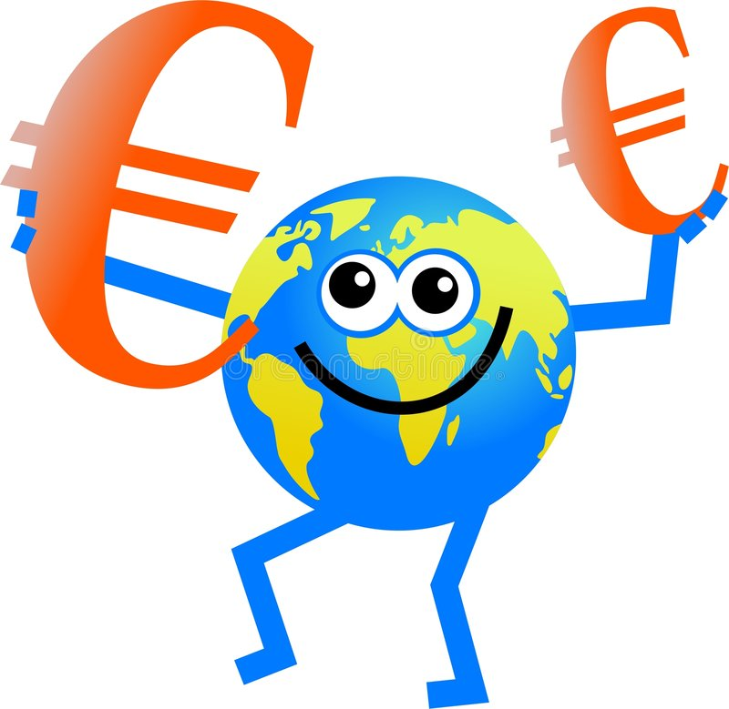 Download Euro globe stock illustration. Image of happy, currency - 6193316