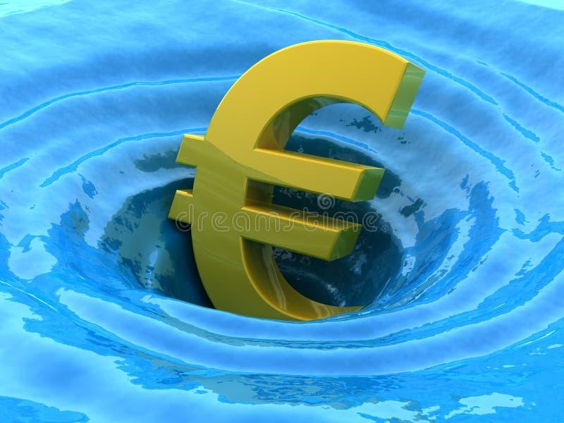 Euro gootstenen vector illustratie