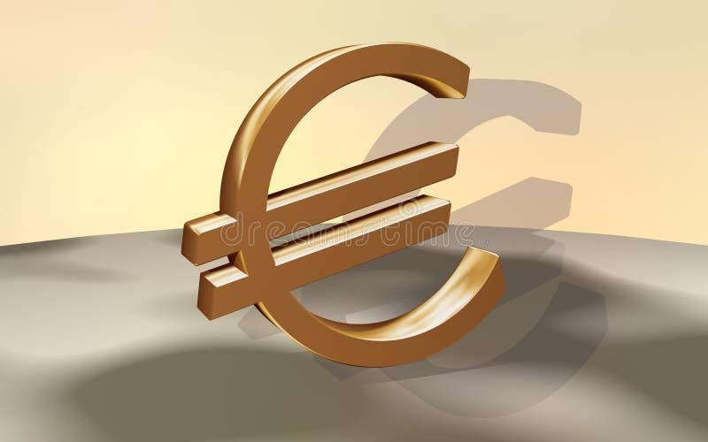 Euro goud royalty-vrije illustratie