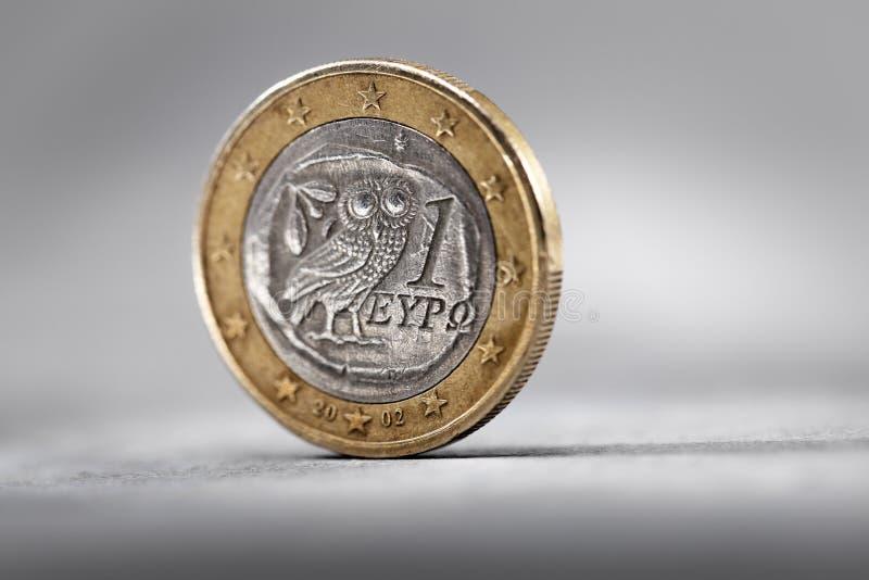 Euro grego foto de stock
