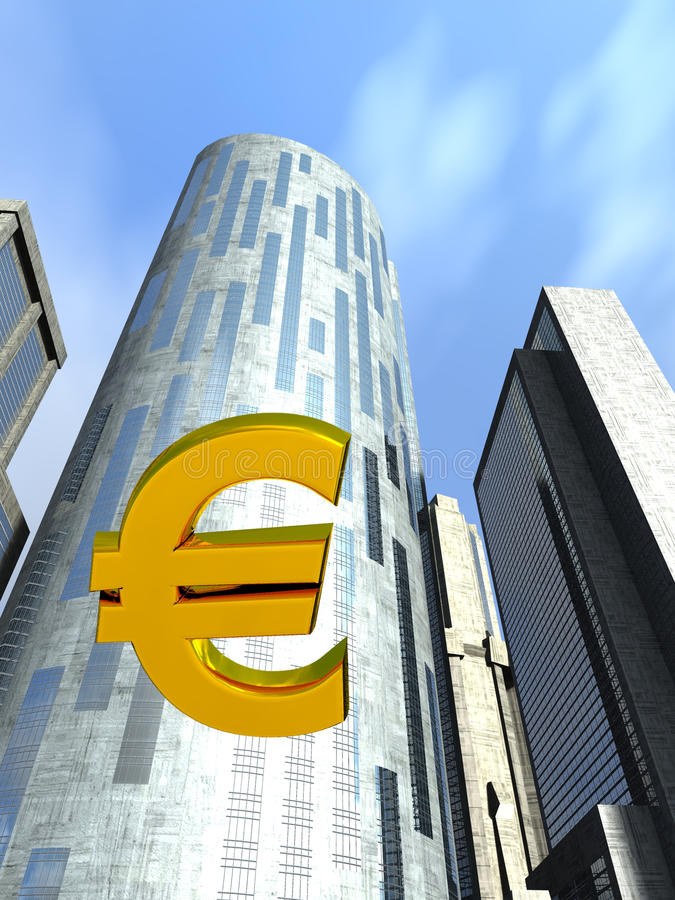 Euro het vallen royalty-vrije illustratie
