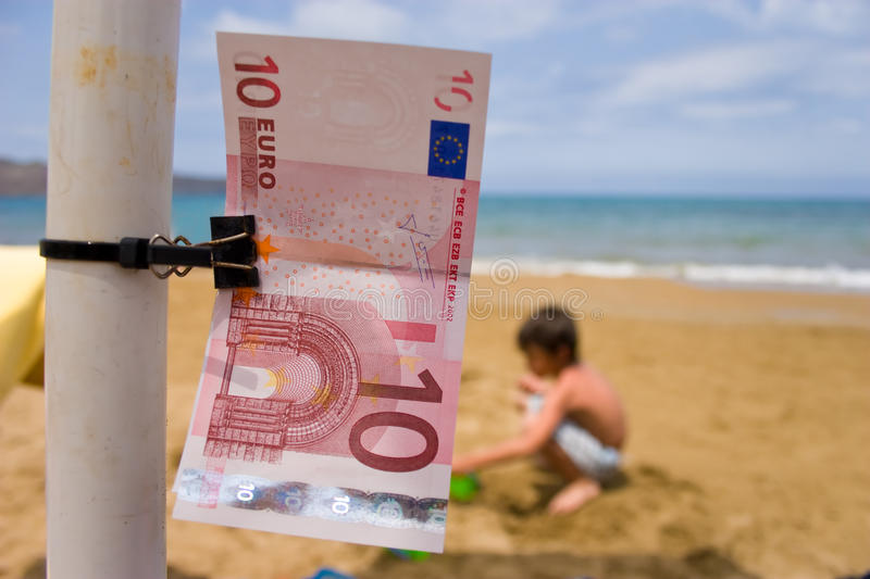 Euro On Holiday stock images