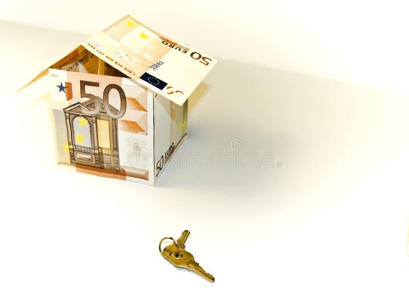 euro huis 50 stock afbeelding